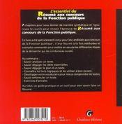 Resume Concours Fonction Publique - 4ème de couverture - Format classique