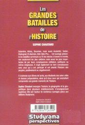 Grandes Batailles De L'Histoire (Les) - 4ème de couverture - Format classique
