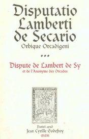 Disputatio Lamberti De Secario - Intérieur - Format classique