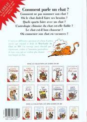 Les mini-guides en BD t.13 ; chats - 4ème de couverture - Format classique