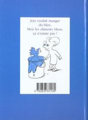 Idees Bleues De Jojo (Les) - 4ème de couverture - Format classique