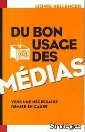 Du Bon Usage Des Medias - Intérieur - Format classique
