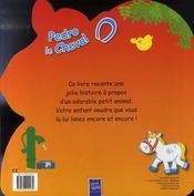 Pedro le cheval - 4ème de couverture - Format classique