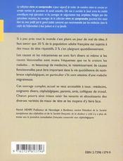 Migraine Et Maux De Tete - 4ème de couverture - Format classique