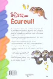 Mon...Ecureuil - 4ème de couverture - Format classique