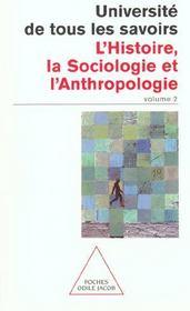 Histoire, Sociologie Et Anthropologie - Intérieur - Format classique
