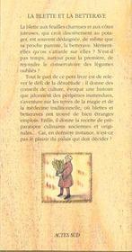 La blette et la betterave - 4ème de couverture - Format classique