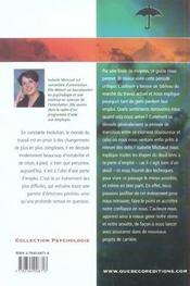 Guide Pour Mieux Faire Face A Une Perte D'Emploi - 4ème de couverture - Format classique