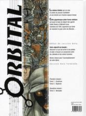 Orbital T.1 ; Cicatrices - 4ème de couverture - Format classique