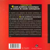 Essentiel Grands Problemes Eco Sociaux Monde Contemporain - 4ème de couverture - Format classique