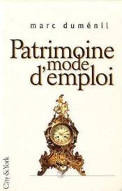 Patrimoine Mode D'Emploi - Couverture - Format classique