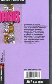 Drogues : Une Encyclopedie - 4ème de couverture - Format classique