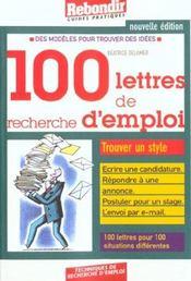 100 Lettres De Recherches D'Emploi 2001 - Intérieur - Format classique