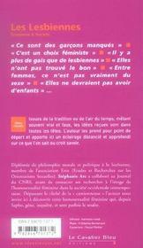 Les lesbiennes - 4ème de couverture - Format classique