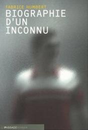 Biographie d'un inconnu - Couverture - Format classique