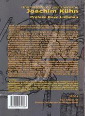 Une Histoire Du Jazz ; Joachim Kurn - 4ème de couverture - Format classique
