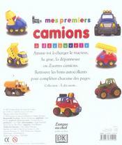 Mes Premiers Camions - 4ème de couverture - Format classique