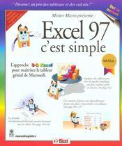 Excel 97 C'Est Simple - Intérieur - Format classique