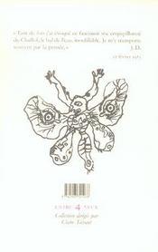 Poirer Le Papillon - 4ème de couverture - Format classique