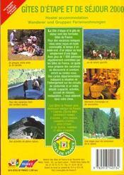 Gites D'Etapes Et De Sejours 2000 - 4ème de couverture - Format classique