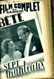 Le Film Complet Du Samedi N° 1963 - 16e Annee - Le Bete Aux Sept Manteaux - Couverture - Format classique
