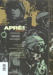 Apres La Guerre - 4ème de couverture - Format classique