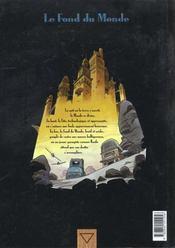 Le fond du monde t.1 ; mademoiselle H - 4ème de couverture - Format classique