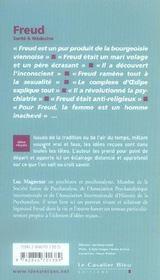 Freud - 4ème de couverture - Format classique