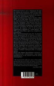 Les cahiers noirs ; journal 1905-1922 - 4ème de couverture - Format classique