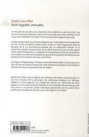 Saint augustin, mon père - 4ème de couverture - Format classique