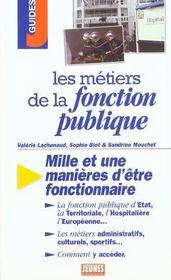 Les metiers de la fonction publique - Intérieur - Format classique
