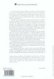 D'Un Siecle A L'Autre ; La Violence En Heritage ; Perspectives Psychanalytiques Et Anthropologiques - 4ème de couverture - Format classique