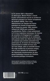 Platini président - 4ème de couverture - Format classique