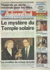 Aujourd'Hui N°15956 du 23/12/1995 - Couverture - Format classique