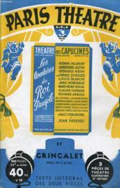 PARIS THEATRE N° 10 - LES AVENTURES DU ROI PAUSOLE, prérette en 3 actes d'ALBERT WILLEMETZ - GRINGALET, pièce en 4 actes de PAUL VANDERBERGHE - Couverture - Format classique