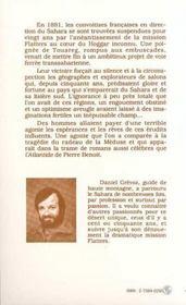 Sahara 1830-1881 Les Mirages Francais ... - 4ème de couverture - Format classique