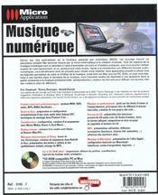 Musique numerique - 4ème de couverture - Format classique