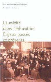 La mixite dans l'education ; enjeux passes et presents - Intérieur - Format classique