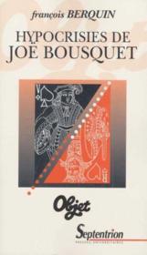 Hypocrisies De Joe Bousquet - Couverture - Format classique