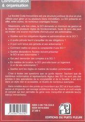 Comment gérer une s.c.i. en 2007 ; gestion administrative, fiscale, comptable et locative (3e édition) - 4ème de couverture - Format classique
