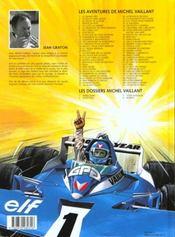 Michel Vaillant t.8 ; le 8ème pilote - 4ème de couverture - Format classique