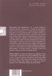 Resonances du romantisme - 4ème de couverture - Format classique