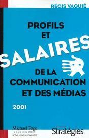 Les Profils Et Les Salaires De La Communication Et Des Medias - Intérieur - Format classique