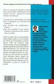 Les Profils Et Les Salaires De La Communication Et Des Medias - 4ème de couverture - Format classique