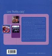 Les petits-déj de jérôme et anne-cécile - 4ème de couverture - Format classique