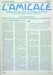 Amicale (L') N°178 du 01/01/1991 - Couverture - Format classique