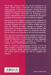 Precis De Culture Generale Classes Preparatoires Bts Et Iut Concours Administratifs 1ers Cycles Univ - 4ème de couverture - Format classique