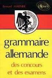 Grammaire Allemande Des Concours Et Des Examens - Intérieur - Format classique