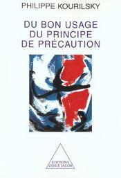 Du Bon Usage Du Principe De Precaution - Intérieur - Format classique