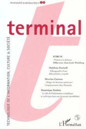 Terminal N.79 ; Technologie De L'Information, Culture Et Société - Couverture - Format classique